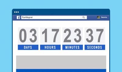 With just a few clicks you can create scarcity-based countdown-timers on your FanMagnet app